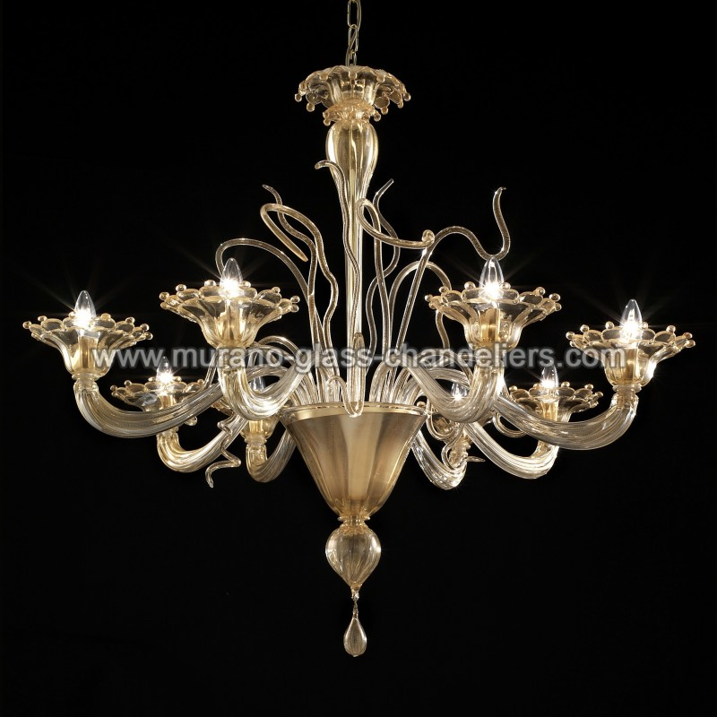 gondola lustre en verre de murano murano glass chandeliers. Black Bedroom Furniture Sets. Home Design Ideas