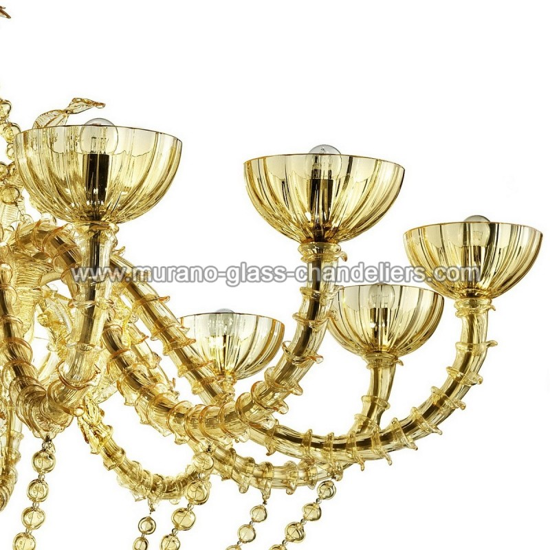 champagne lustre en verre de murano murano glass chandeliers. Black Bedroom Furniture Sets. Home Design Ideas