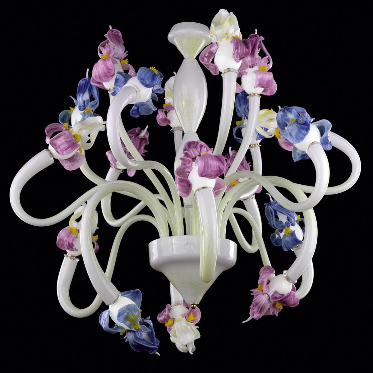 """""""Orchid"""" lustre en verre de Murano - 18 lumieres"""