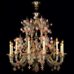 """Charlotte"" Murano glass chandelier - 12 lights"