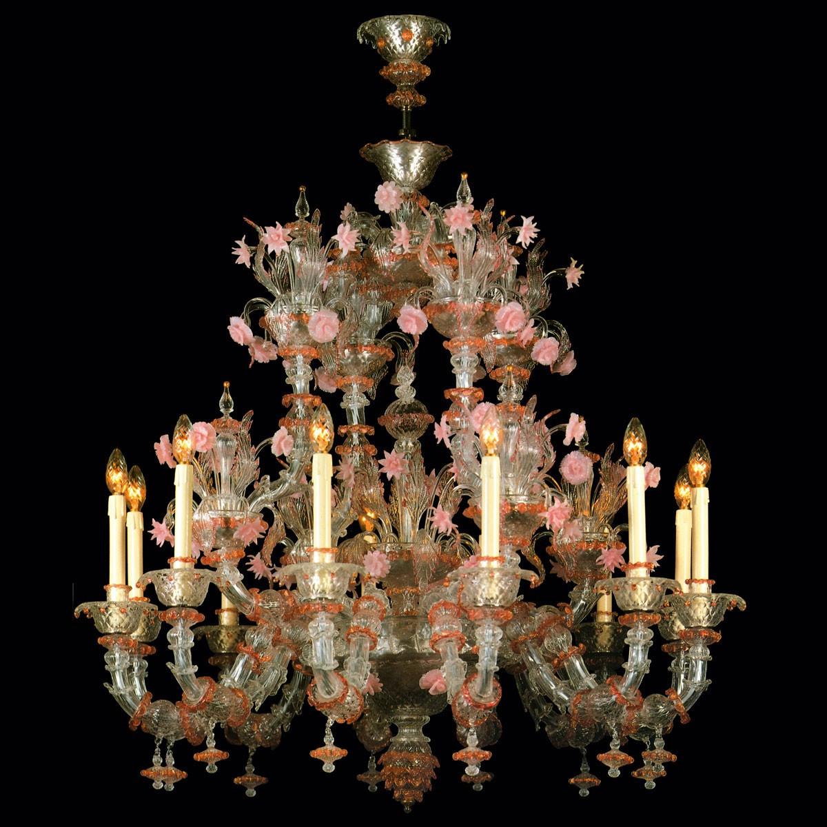 """Charlotte"" Murano glass chandelier - 12 lights"