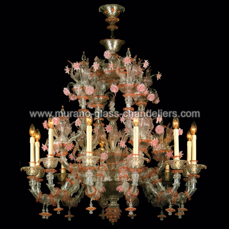 charlotte lustre en verre de murano murano glass chandeliers. Black Bedroom Furniture Sets. Home Design Ideas