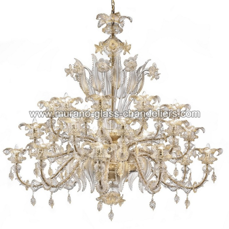 "Small Murano Crystal Chandelier: ""Prezioso"" Large Murano Glass Chandelier"