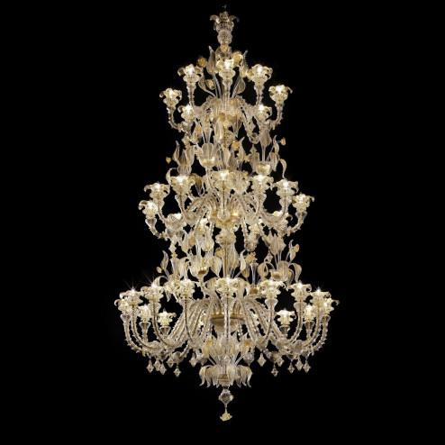 """""""Prezioso"""" araña a tres niveles de cristal de Murano"""