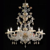 """Fondaco"" Murano glass chandelier"
