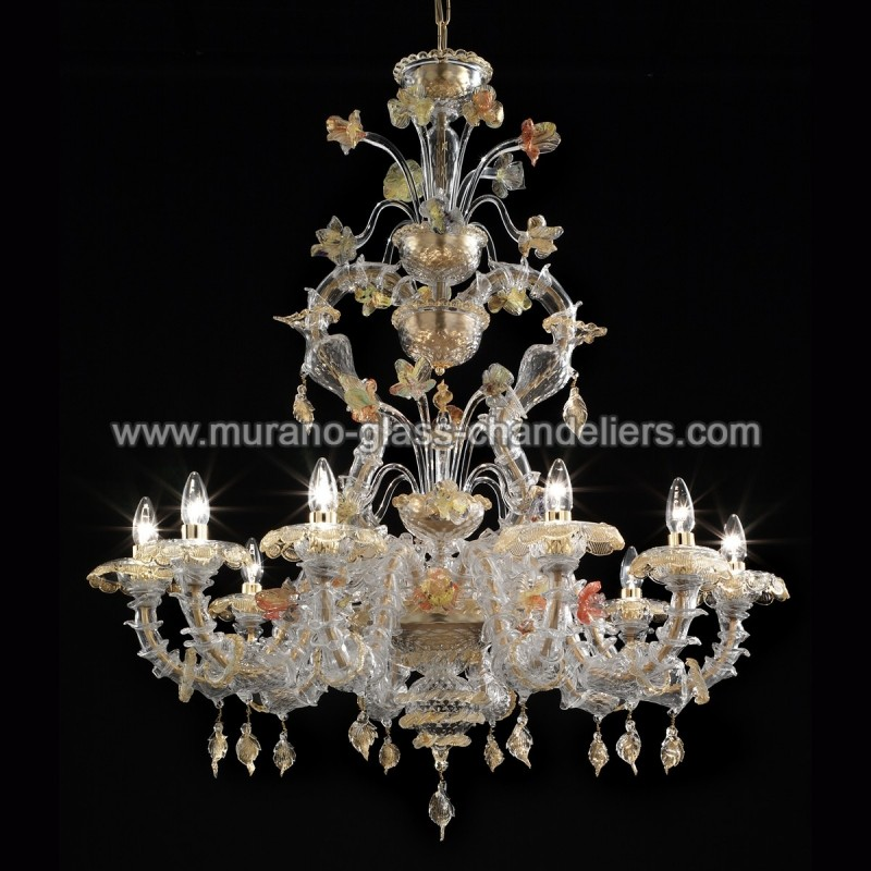 fondaco lustre en verre de murano murano glass chandeliers. Black Bedroom Furniture Sets. Home Design Ideas