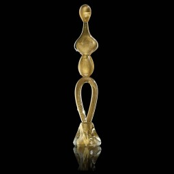 """Adamo"" Murano glass sculpture - all gold"