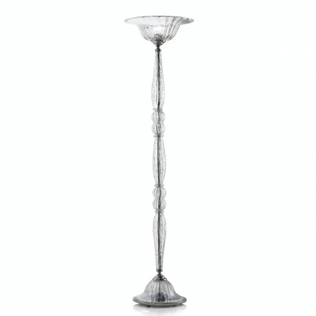 """Roma"" Murano glass floor lamp - transparent"