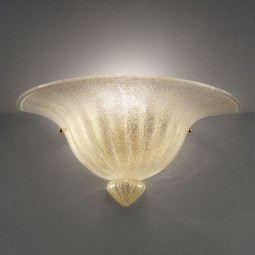 """Roma"" Murano glass sconce - gold grit"