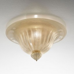 """Roma"" Murano glass ceiling light - gold grit"