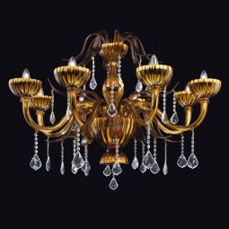 """Riace"" Murano glass chandelier - 8 lights"