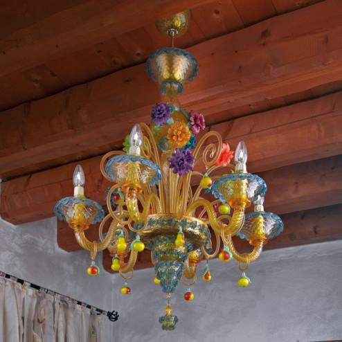 """""""Fruttini"""" lampara de araña de Murano"""