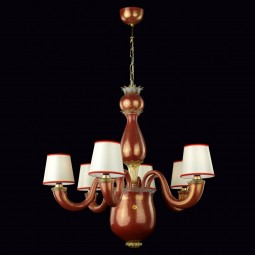 """Messalina"" Murano glass chandelier - 6 lights"
