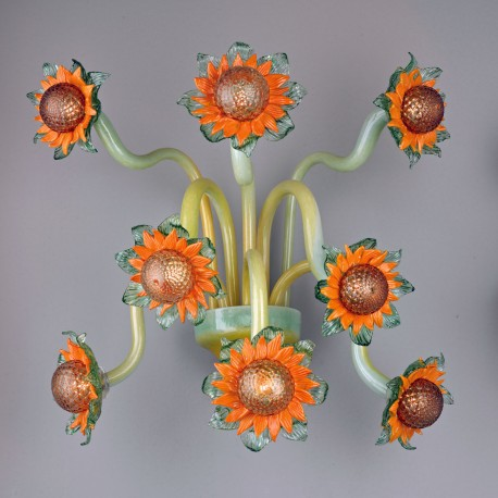 """Vincent"" Murano glass sconce - 8 lights"
