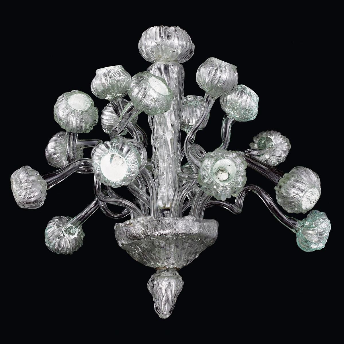 """""""Mizar"""" lustre en verre de Murano - 18 lumieres"""