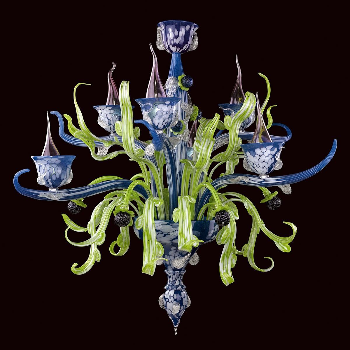 """""""Santippe"""" lustre en verre de Murano - 6 lumieres"""
