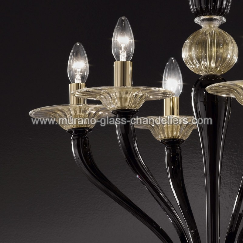 "Small Murano Crystal Chandelier: ""Macbeth"" Murano Glass Chandelier"