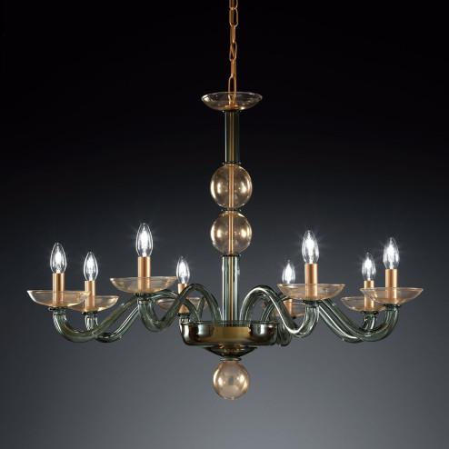 """""""Tibaldo"""" lustre en cristal de Murano"""