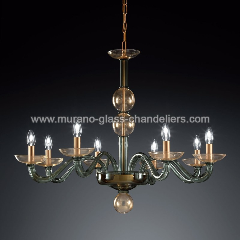 tibaldo lustre en cristal de murano murano glass chandeliers. Black Bedroom Furniture Sets. Home Design Ideas