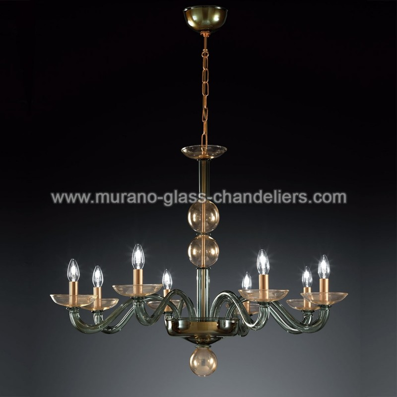 tibaldo lustre en cristal de murano murano glass. Black Bedroom Furniture Sets. Home Design Ideas