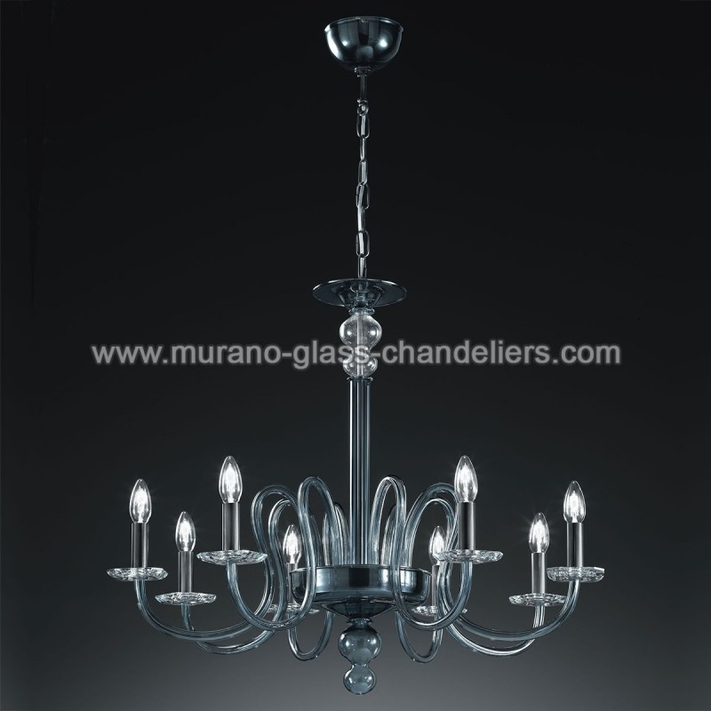 malvolio lustre en cristal de murano murano glass. Black Bedroom Furniture Sets. Home Design Ideas