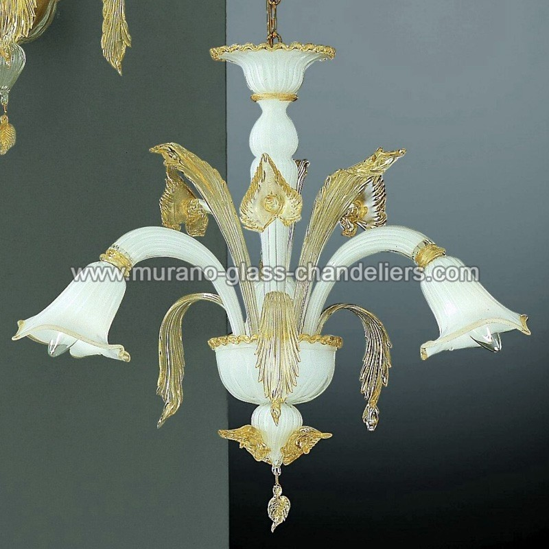 "Small Murano Crystal Chandelier: ""Laguna"" Small Murano Glass Chandelier"