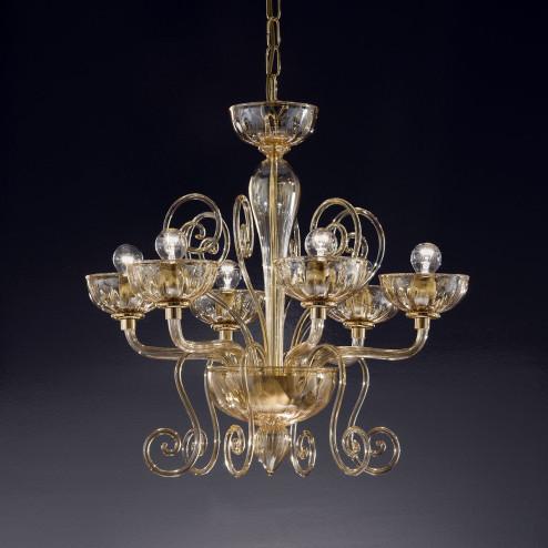 """""""Bassanio"""" lampara de araña de Murano"""