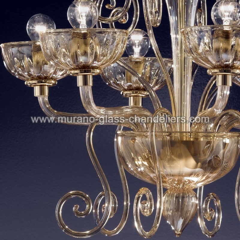 bassanio lustre en cristal de murano murano glass. Black Bedroom Furniture Sets. Home Design Ideas