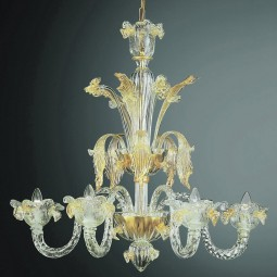 """Accademia"" Murano glass chandelier"