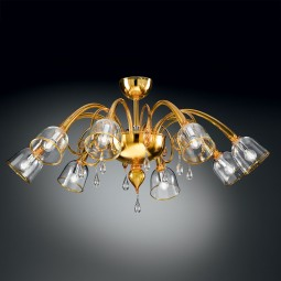 """Duncan"" Murano glass ceiling light"