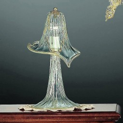 Laguna 1 light Murano small table lamp transparent gold color