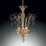 """Picandoi"" Murano glass pendant light - 3 lights - amber"
