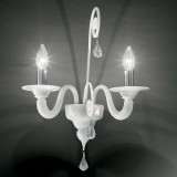 """Gertrude"" Murano glass sconce  - 2 lights - white"