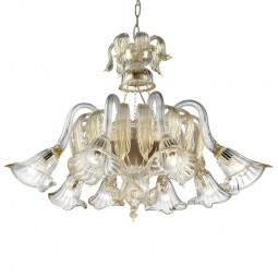 """Laguna"" Murano glass chandelier basket shape"
