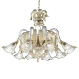 Laguna Murano chandelier basket shape - transparent gold color