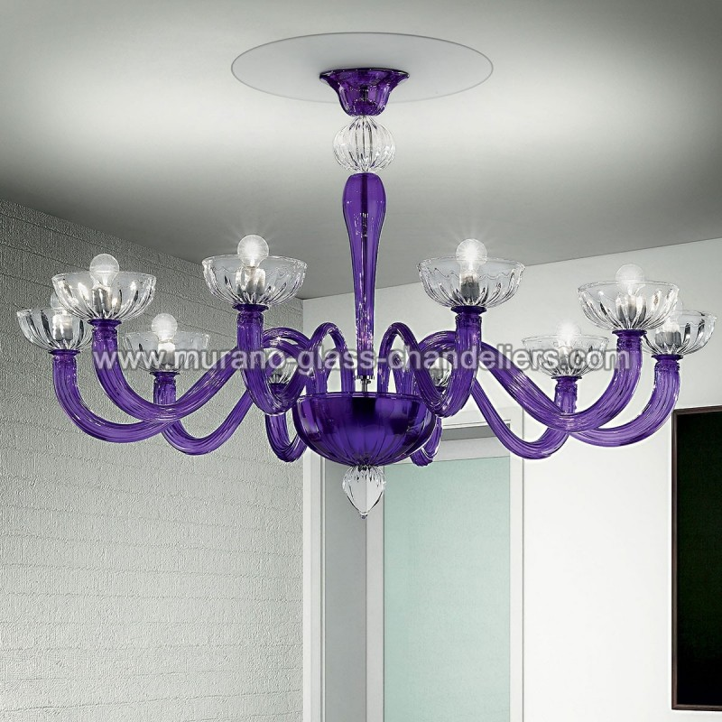 andronico murano glass ceiling light murano glass chandeliers. Black Bedroom Furniture Sets. Home Design Ideas