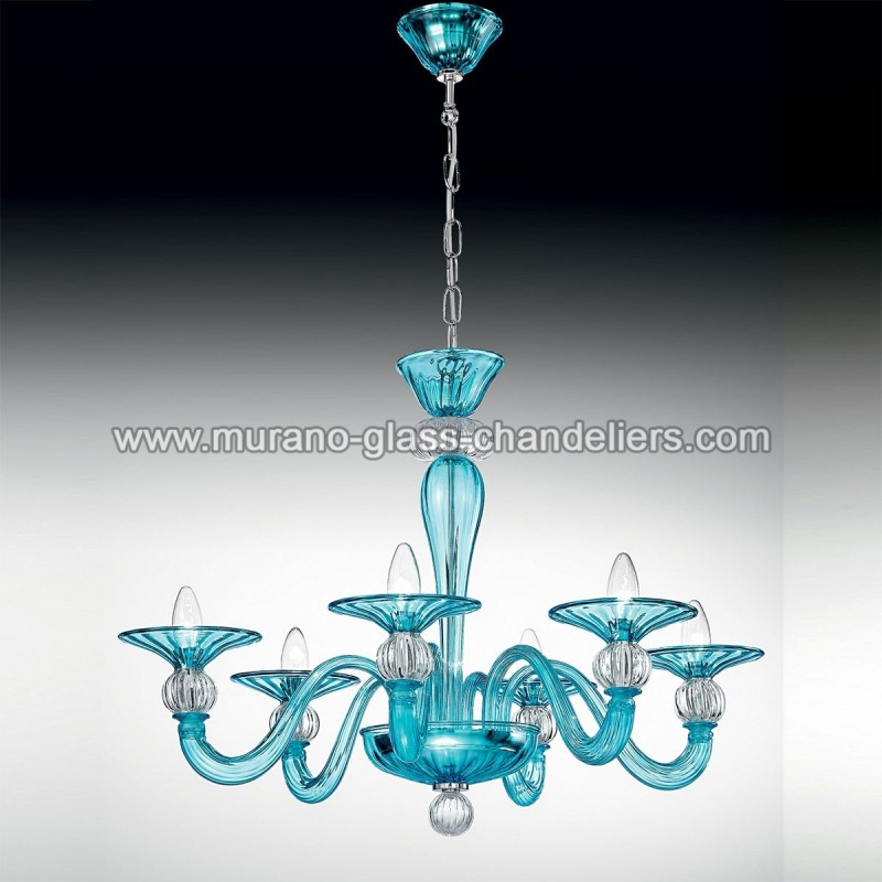 Teal glass chandelier glass designs ermione murano glass chandelier chandeliers aloadofball Choice Image