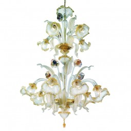 """Canal Grande"" two tier Murano glass chandelier"