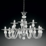 """Ermione"" two tier Murano glass chandelier"