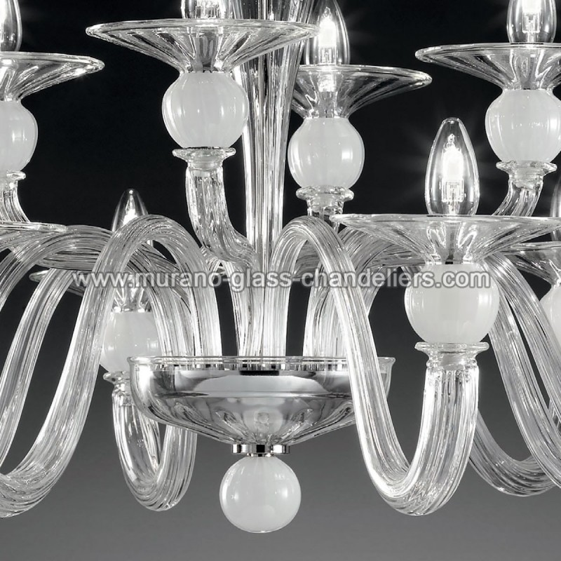 ermione lustre en cristal de murano deux tages. Black Bedroom Furniture Sets. Home Design Ideas