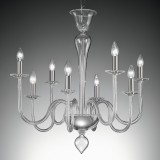 """Miranda"" Murano glass chandelier - 8 lights - transparent"