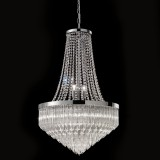 """Bella"" Murano glass chandelier - 8 lights - transparent and chrome"