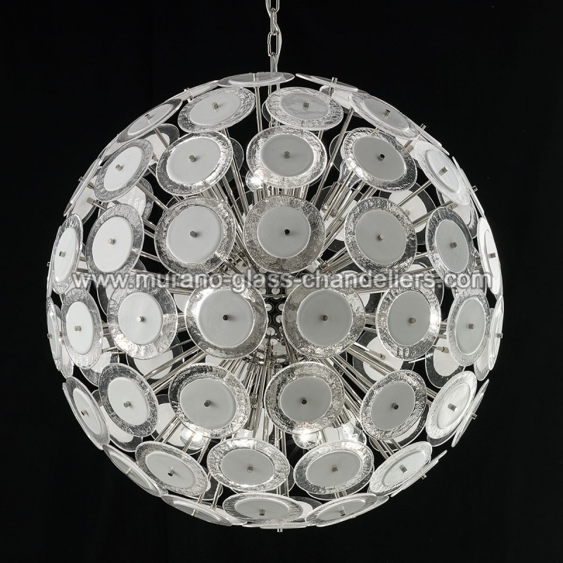 globo lustre en cristal de murano murano glass chandeliers. Black Bedroom Furniture Sets. Home Design Ideas