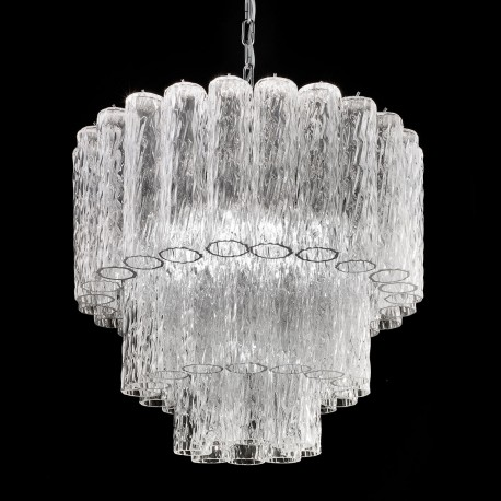 Tronchi Murano Gl Chandelier 7 Lights Transpa And Chrome