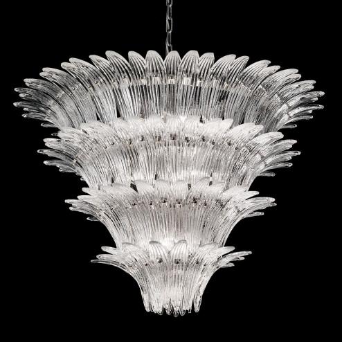 """""""Casablanca"""" lampara de araña de Murano"""