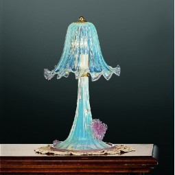 Mori 1 light Murano small table lamp opal pink color