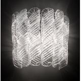 """Shirley"" Murano glass sconce - 2 lights - white and chrome"