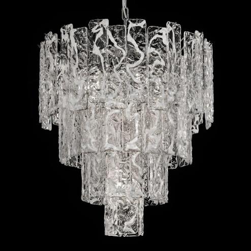 """""""Scarlett"""" Murano glass chandelier - 5 lights - white and chrome"""