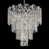 """Scarlett"" Murano glass chandelier - 5 lights - white and chrome"