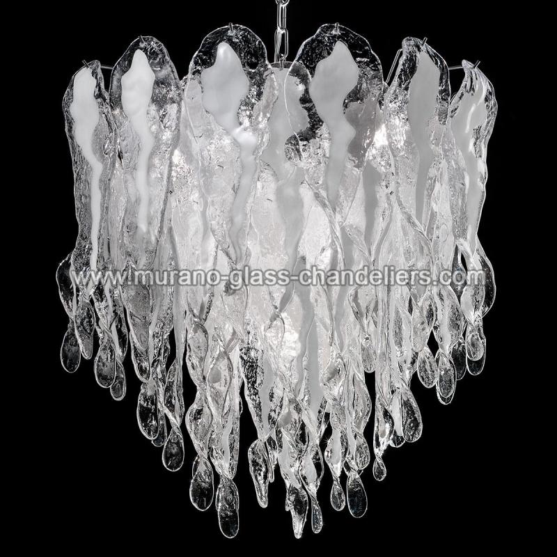 natalie lustre en cristal de murano murano glass chandeliers. Black Bedroom Furniture Sets. Home Design Ideas
